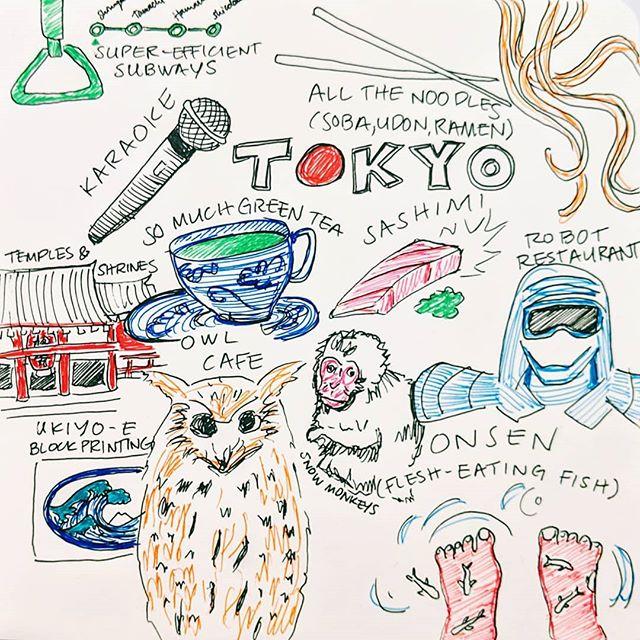 Tokyo highlights 🇯🇵 #juliadoodle