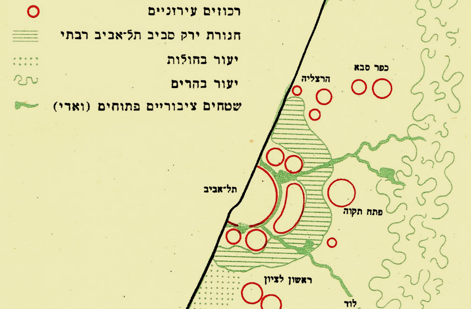 Green belt around Greater Tel Aviv, Physical planning of Israel 1948-1953