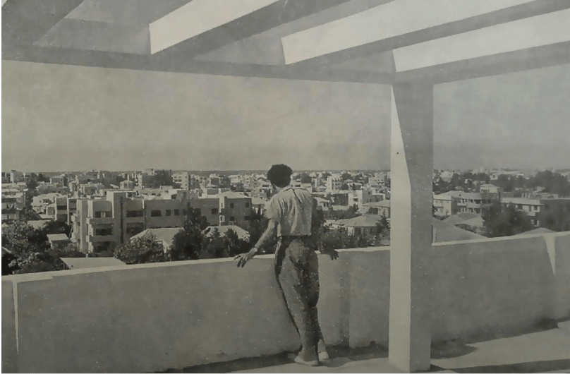 Pergola on the roof, Tel Aviv, photo from Palestine Building Annual 1934-35