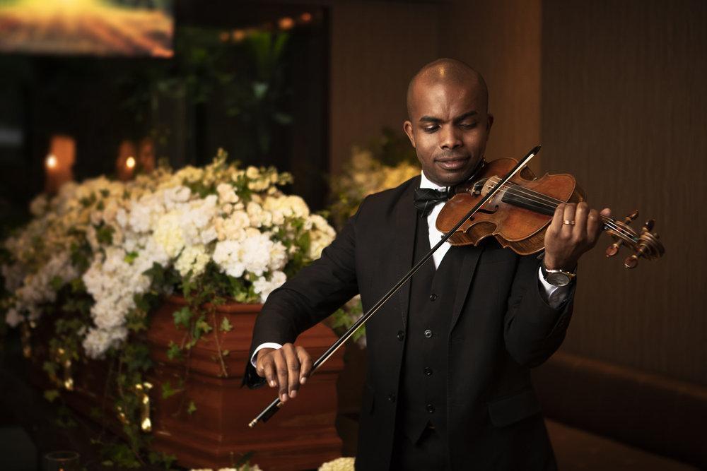Violinista ao vivo