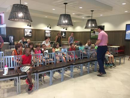 Image taken during a Summer of Fun visit to Chick Fil A.
