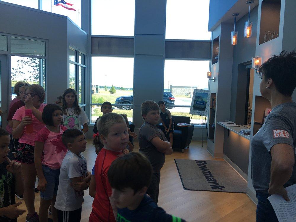 Image taken during a Summer of Fun visit to Rowmark LLC.