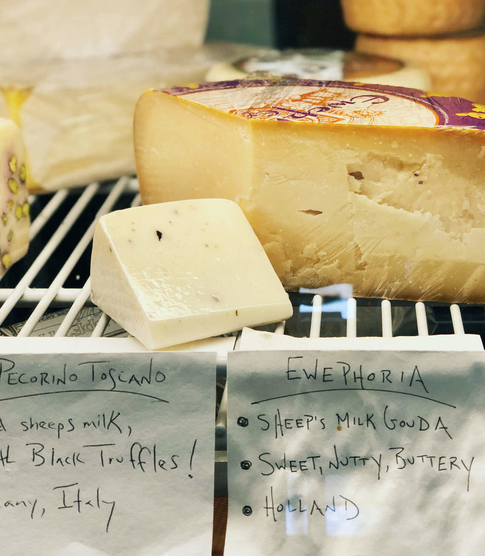 Artisan Cheeses at Slough Food Bistro & Gourmet Grocery, Edison, WA