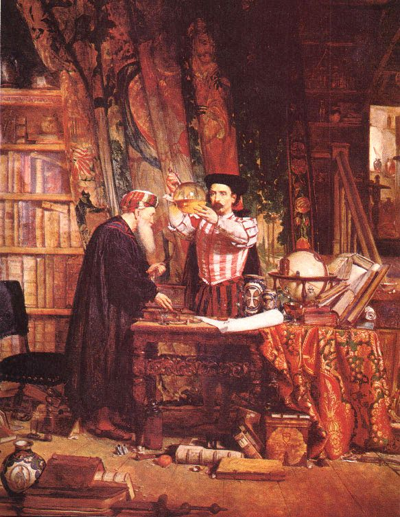 The Alchemist by Sir William Fettes Douglas, 19th cent. Source: Wikimedia Commons.