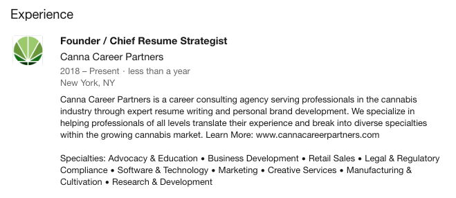 Example of a job description that gives a concise overview of responsibilities while optimizing with relevant keywords.