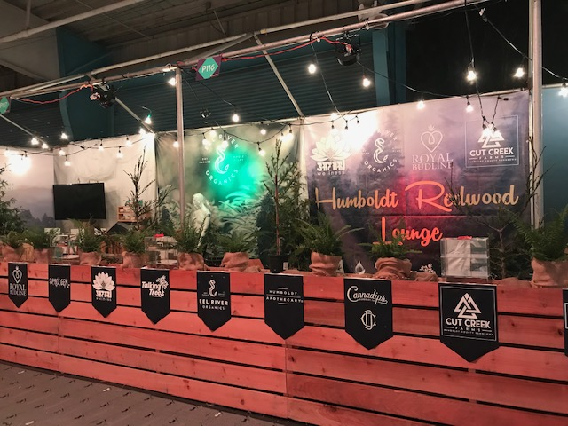 The Humboldt Redwood Lounge at the 2018 Emerald Cup, Santa Rosa, CA