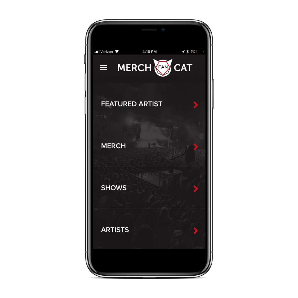 MERCH CAT FAN - Turn stagefront into store front with our virtual merch table & merch marketplace. Fans buy in-app at shows or anytime anywhere. Pick up at merch table or ship to home. Share merch with friends & social followers. Connects to Merch Cat artist platform for sales & inventory tracking in one place. Click image to learn more.