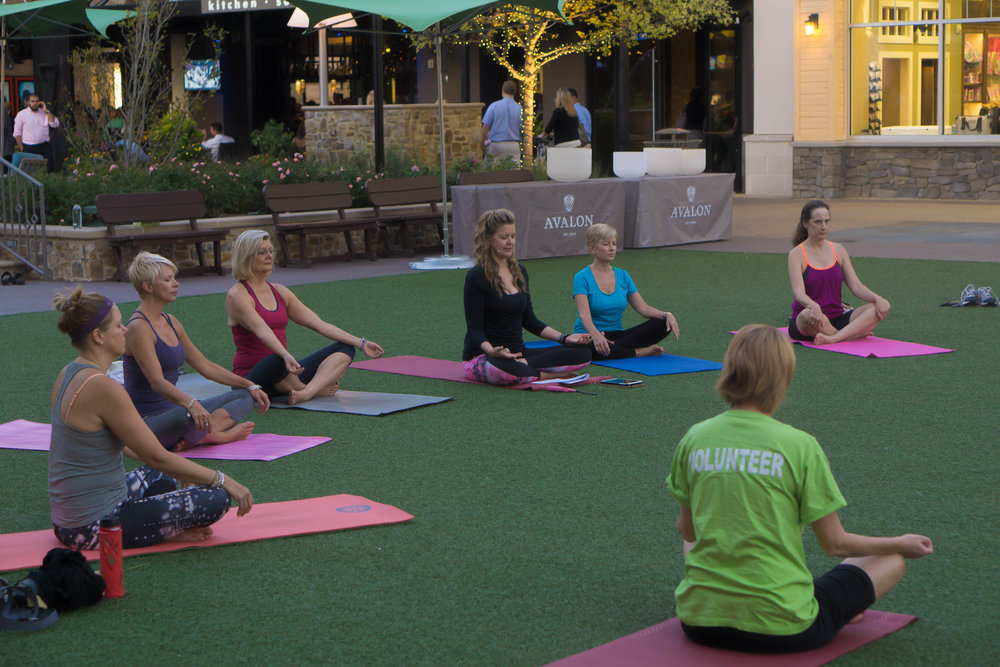 Avalon Hope's Yoga Hope Knosher Leading Wednesday Night Yoga at Avalom on the Lawn