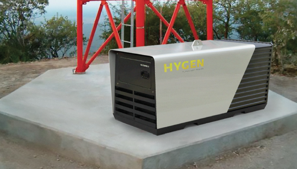 HYGEN GENERATOR - Completed 2015, as a Director for PCSHygen wanted a generator enclosure that was secure, but also stood out from other generators on the market, to showcase that they have a proprietary hybrid technology.
