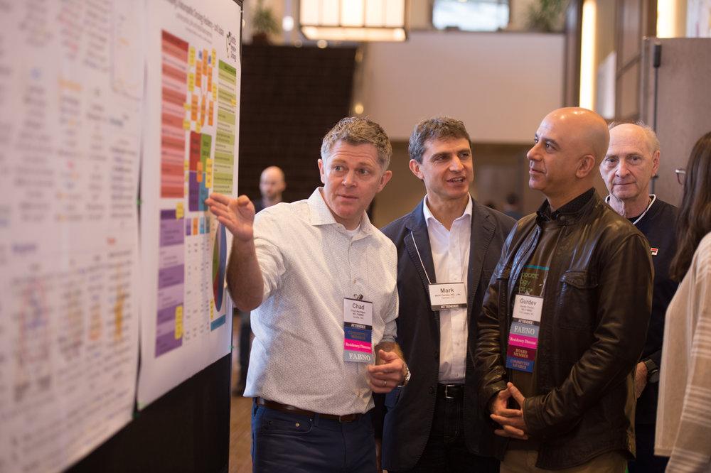 Research Poster Presentations    L to R: Chad Aschtgen, ND, FABNO; Mark Carney, ND; Gurdev Parmar, ND, FABNO; Michael Whitney, ND, FABNO
