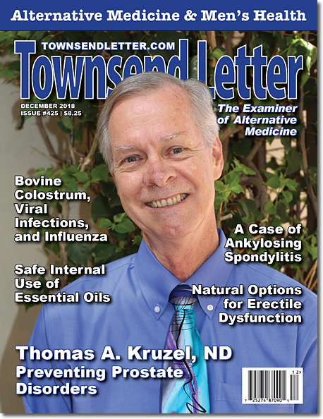 ON THE COVER:   Thomas A. Kruzel, ND