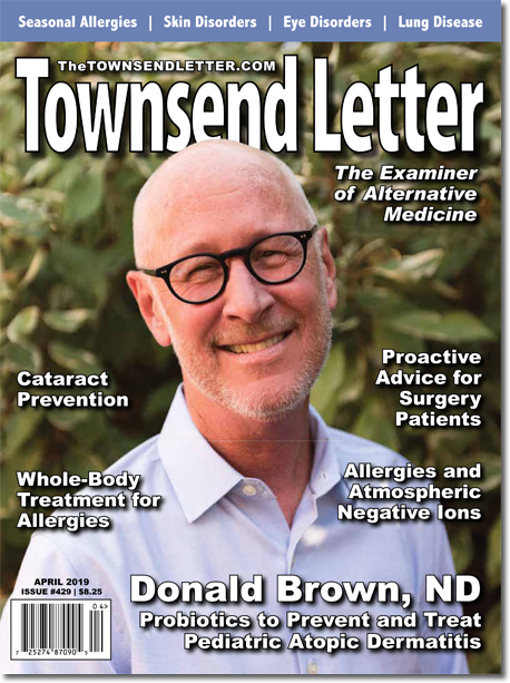 ON THE COVER:  Donald J. Brown, ND