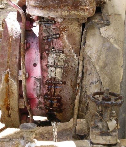 CRACKED CAST IRON GATE