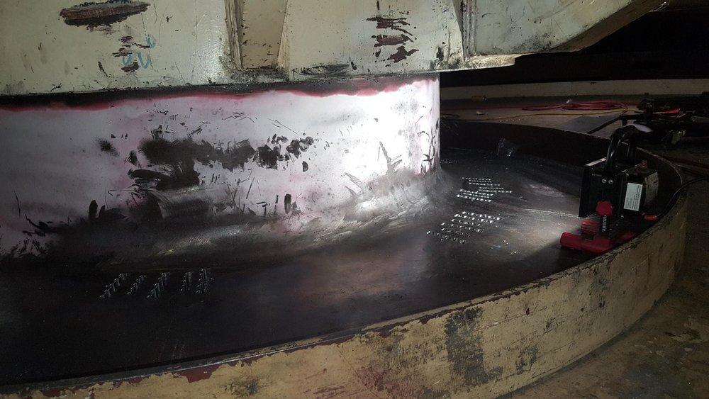 DAMAGED TUB ON DRAGLINE