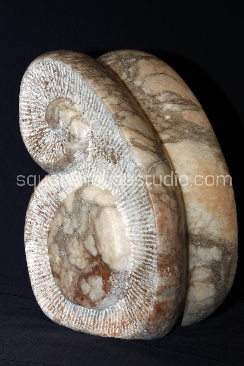 Mother and Child,  view 2, Alabaster carving, $3500