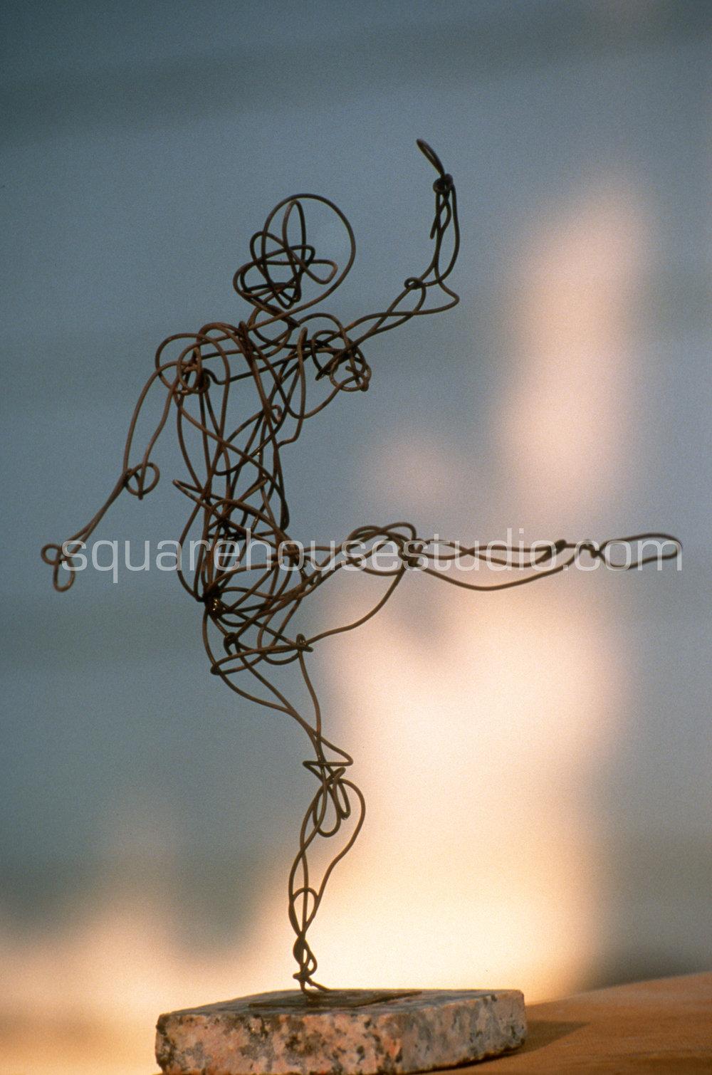 "The Dancer , NFS, 10""x6"" Steel Bailing Wire"