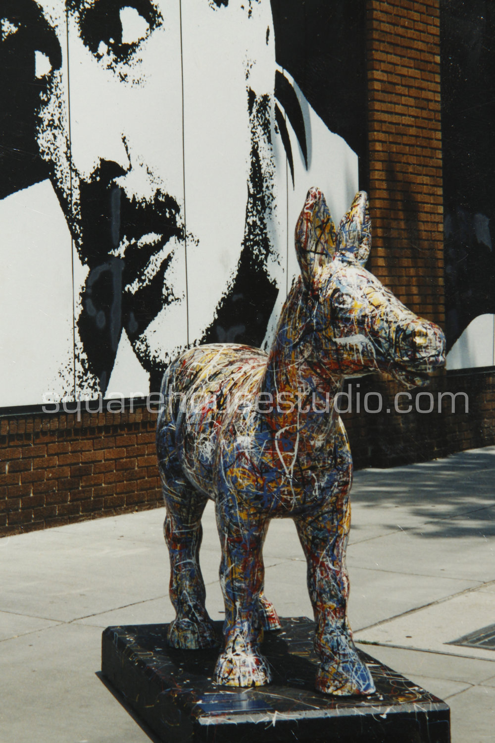 """Polloctician , Commissioned by the D.C. Commission on the Arts and Humanities, """"Party Animals,"""" Auctioned for $8000"""