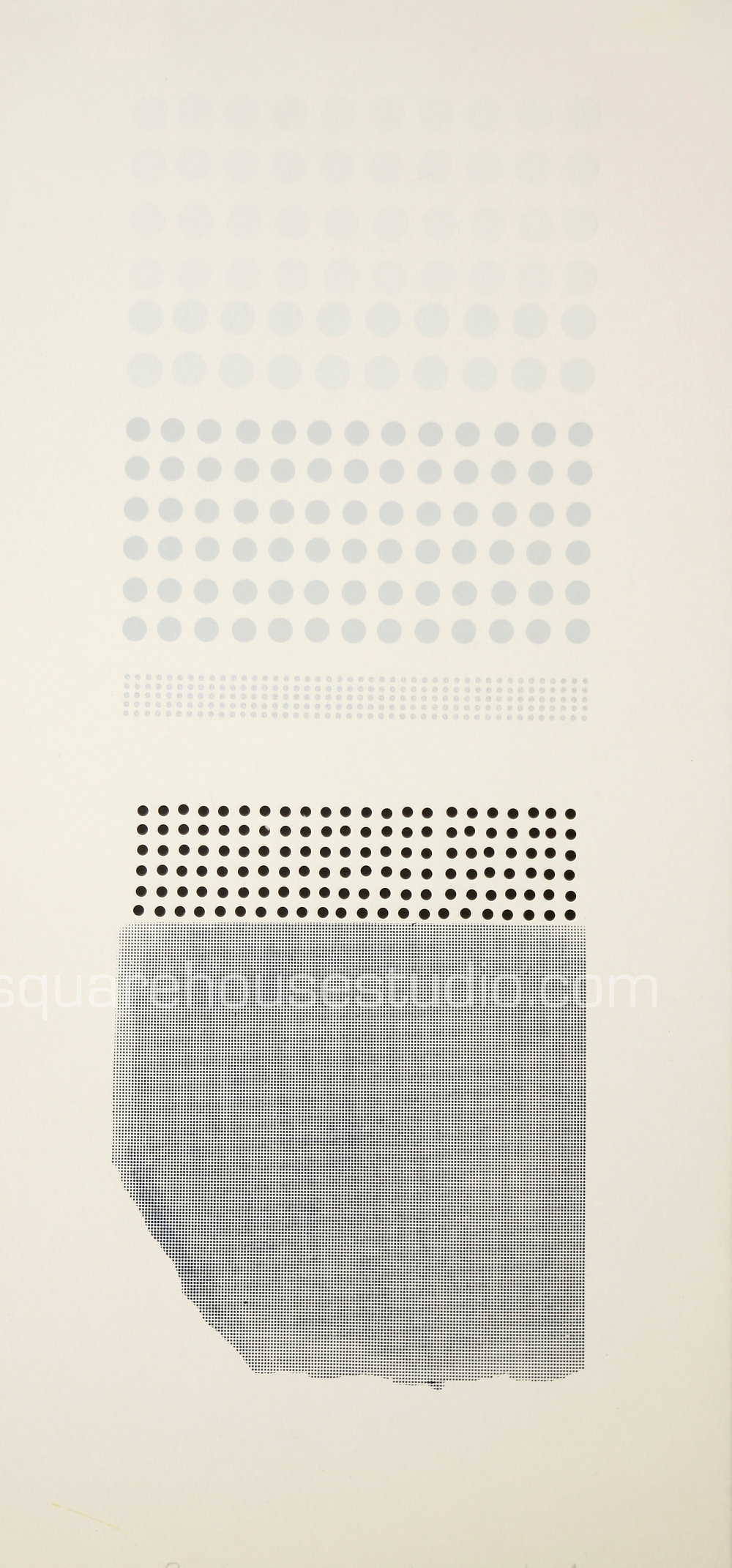 "Blue Dots , 16"" x 32,"" original edition, $625 framed / $475 unframed, Available as giclée print—$450 framed / $300 unframed"