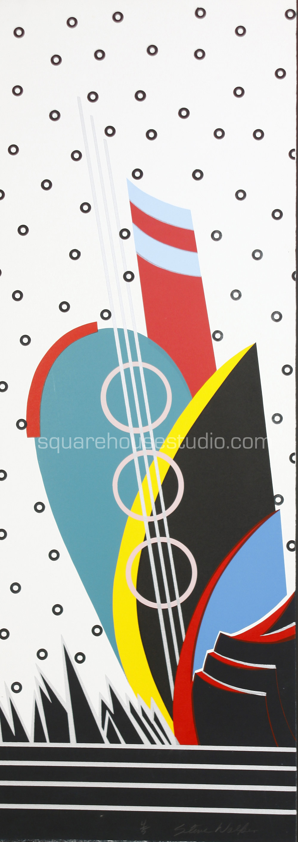 "Memphis Music , 16"" x 40,"" original edition, $625 framed / $475 unframed, Available as giclée print—$450 framed / $300 unframed"
