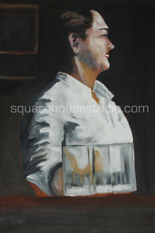 """Miss McSorley , 24""""x36"""" NFS, oil on canvas, Available as a giclée print"""