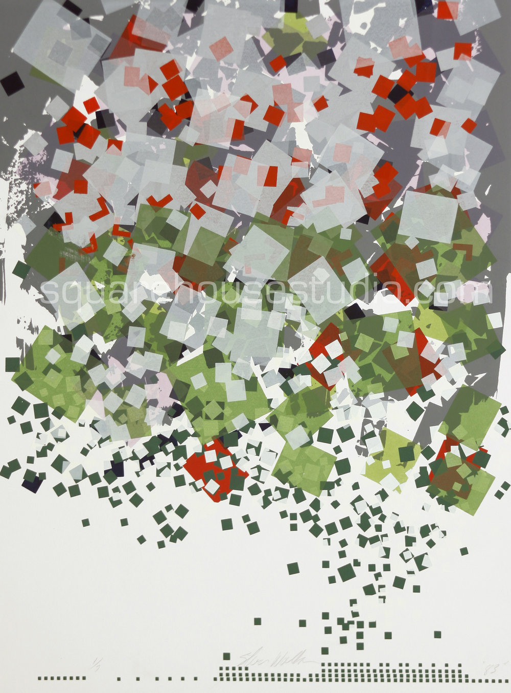 "Confetti , 22"" x 32,"" original edition, $625 framed / $475 unframed, Available as giclée print—$450 framed / $300 unframed"