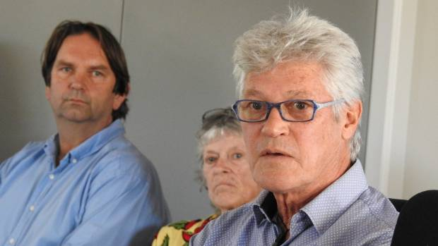 Peter Wills presents the plan for a sustainable tourism project to Waiheke Local Board. Photo: Rose Davis/STUFF
