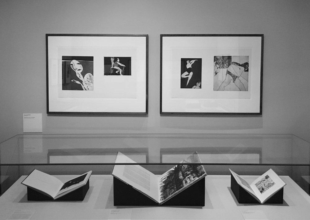 George Baldessin prints on display at the State Library