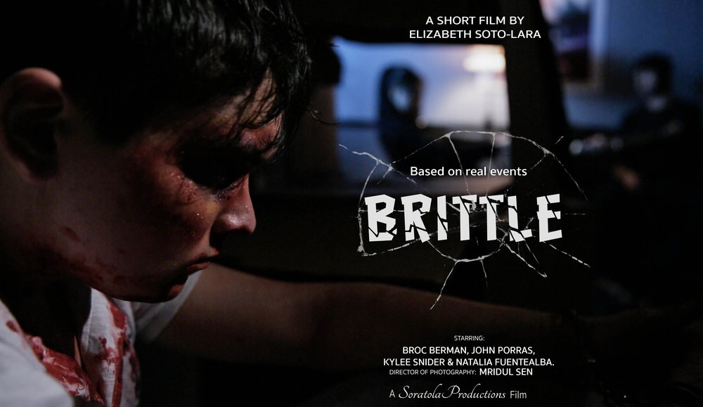 Brittle (2016) - (Short Film)Director/Screenwriter: Elizabeth Soto-Lara.Director of Photography: Mridul SenGenre: DramaLanguage: EnglishLogline:A kidnapped young man that escaped from his captors wants to mend the bonds he used to have with his family but his paranoid delusions make him distrustful.