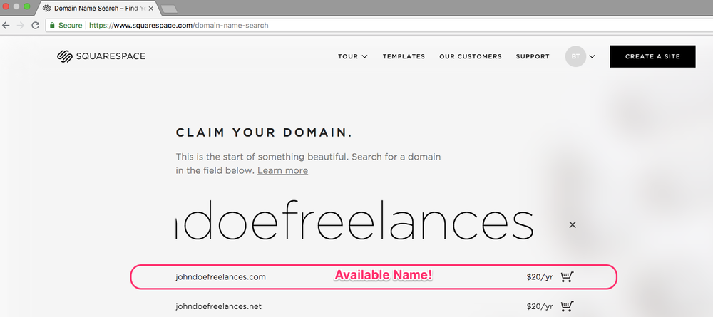 4 easy steps freelancers need to start their blog today. Squarespace check if domain name is available available name
