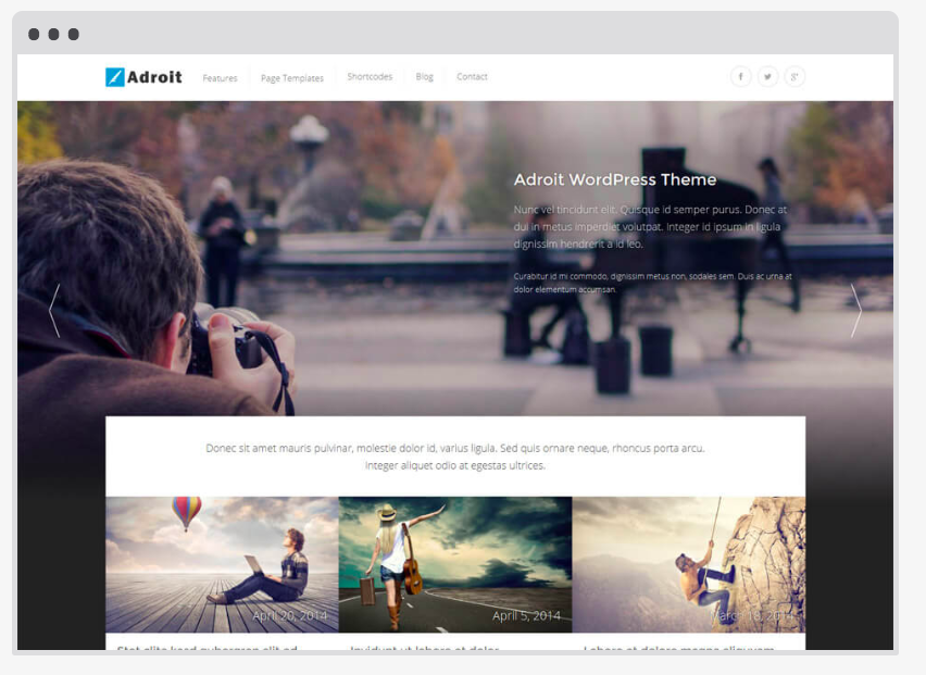 4 easy steps freelancers need to start their blog today. Wordpress adroit photography template.