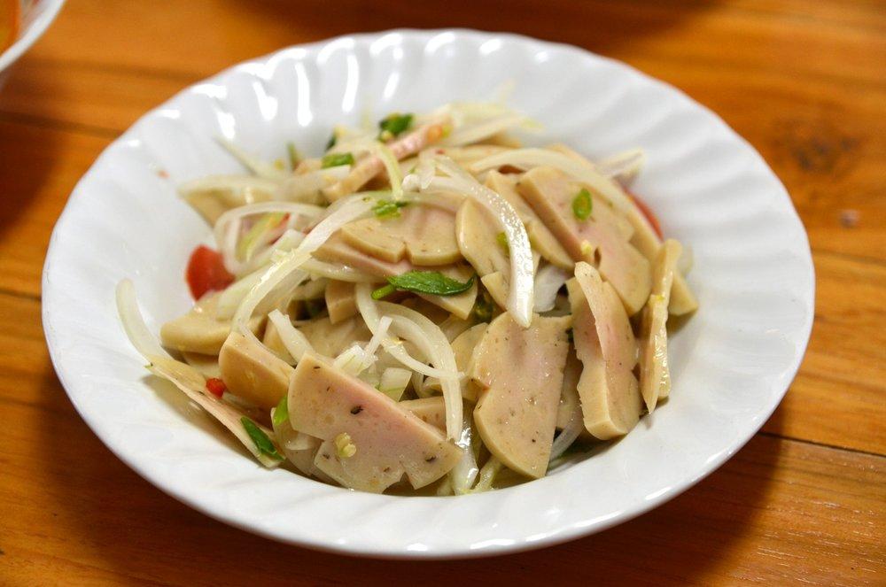 Yam Mu - Pork Sausage Salad -