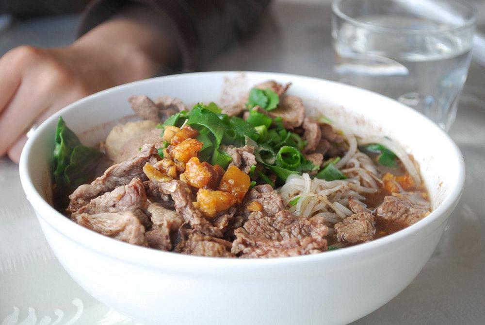 Boat Noodles - Pork & Beef Broth Noodle Soup -