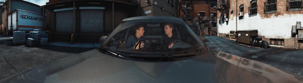 Sam Wickert and Eric Leigh of SOKRISPYMEDIA in Car