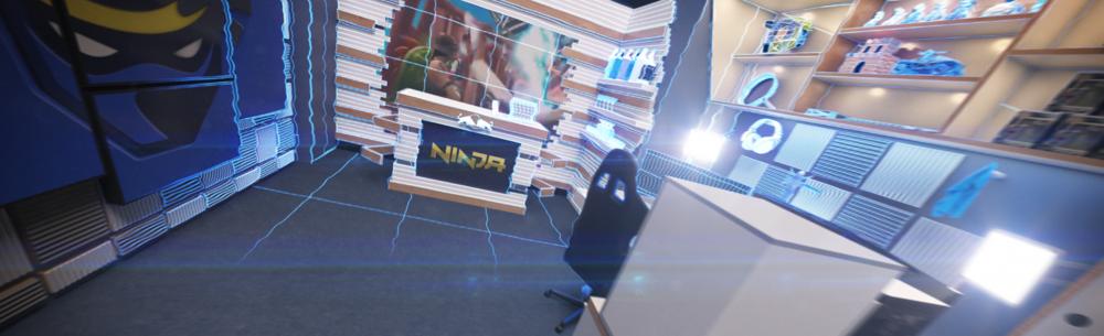 SOKRISPYMEDIA visual effects Twitch Streamer Ninja Redbull Room by Sam Wickert