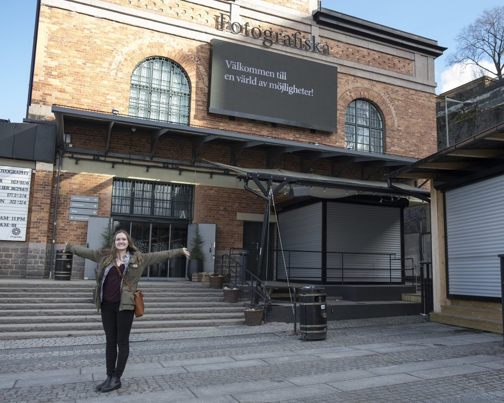 Here I am at Fotografiska in Stockholm. I lapped the exhibit 3+ times and it was genuinely one of the best days of my life so far (if you can't tell from the look on my face).
