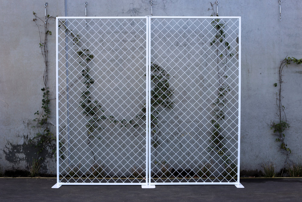 Double Diamond Mesh Backdrop - White - Each panel 1.2m wide x 2.2m highPOA