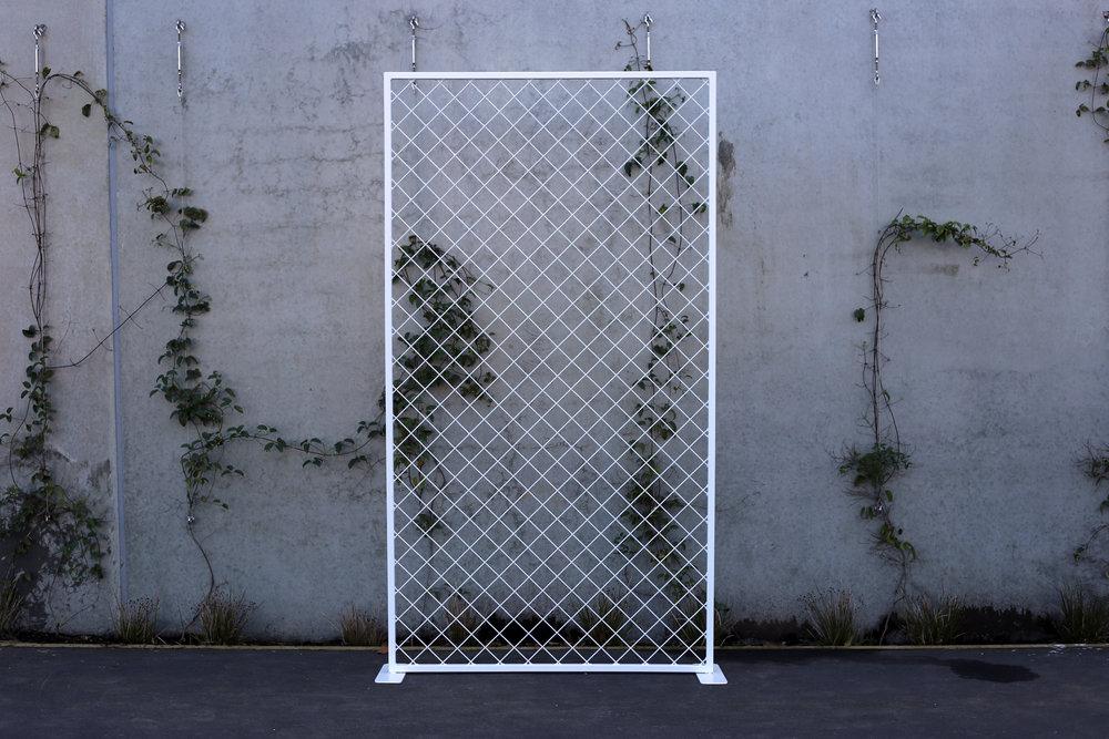 Single Diamond Mesh Backdrop - White - 1.2m wide x 2.2m highPOA