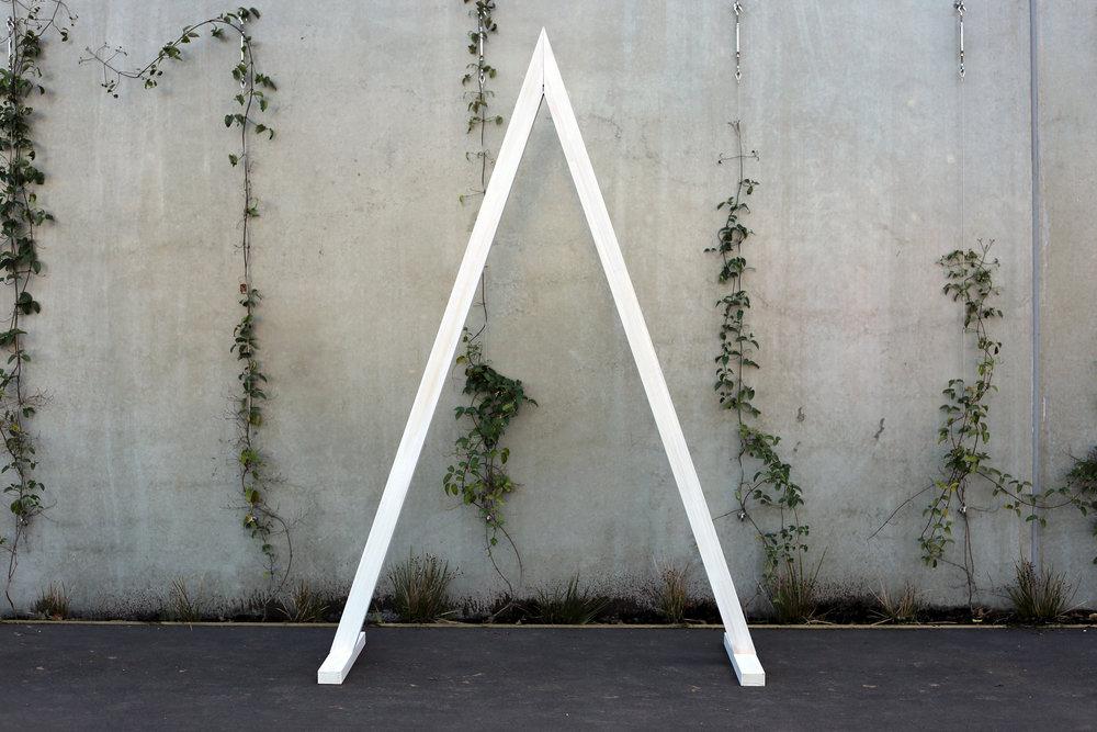 Single Tri-Arch Backdrop - Whitewashed timber - 1.5m wide x 2.2m highPOA