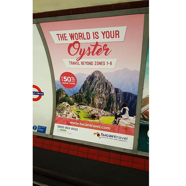 Check out MAG's recent campaign with @tucantravel, available to see across the top underground stations now! #tucantravel
