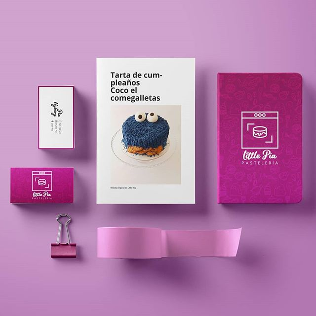 Papeleria corporative de @littlepiapasteleria . . . #corporative #branding #design #graphic #bussinescard #logo #papeleriacorporativa #designer