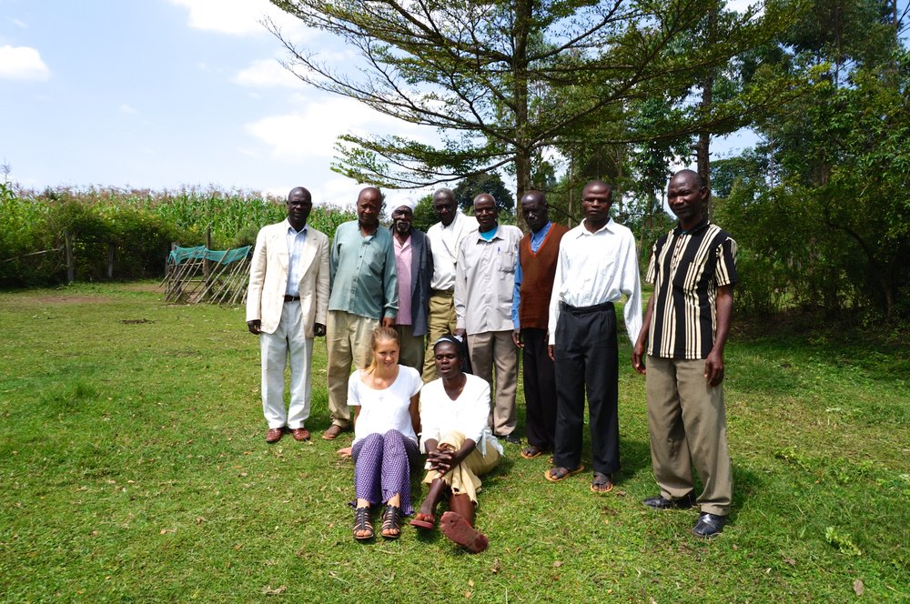 Meeting with small-scale farmers group in Kitale Kenya practicing Agroforestry since 1980