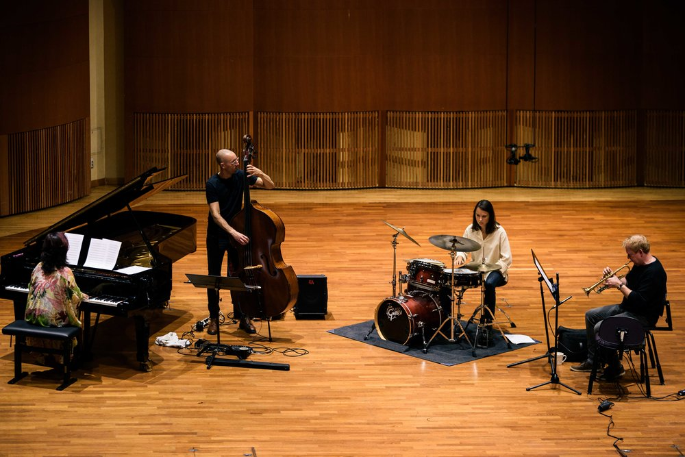Naoko Sakata - piano, TM - bass, Cornelia Nilsson - drums and Staffan Svensson - trumpet.