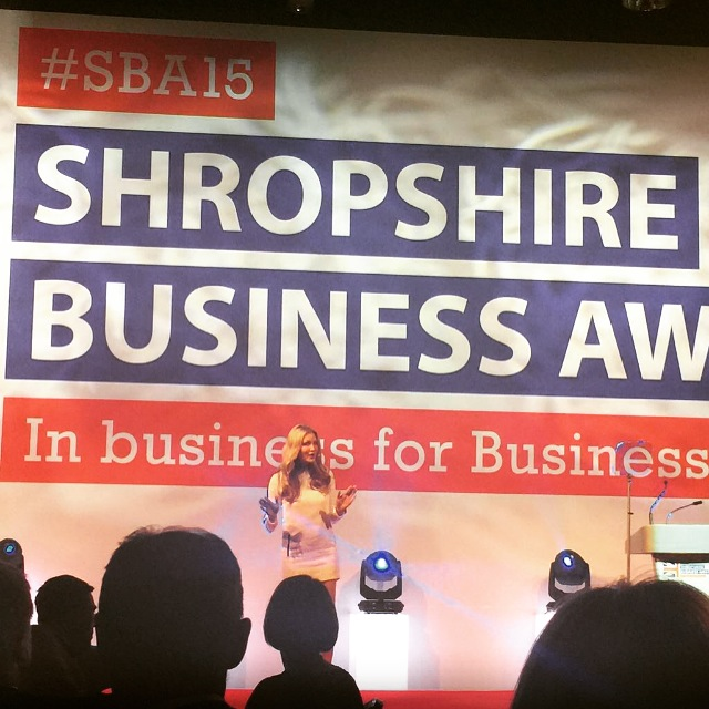 SHROPSHIRE BUSINESS AWARDS - Key note speaker at the Shropshire Business Awards.2015