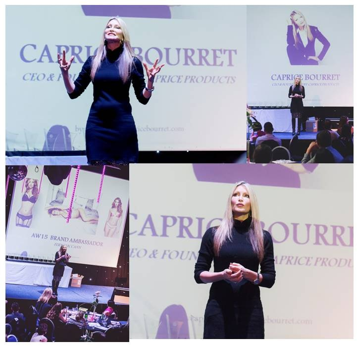 MUMPRENEUR OF THE YEAR - The UK's largest Mumpreneur Conference and Awards asked Caprice to co-host the 2015 event with Mumpreneur UK co-founder, Laura Rigney. Caprice also gave an engaging and passionate 45 minute speech at the conference to 500 delegates.2015