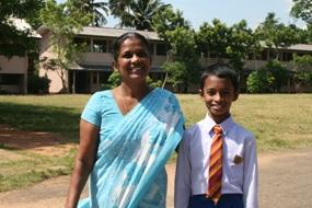 Samuditha with his Grade 5 teacher