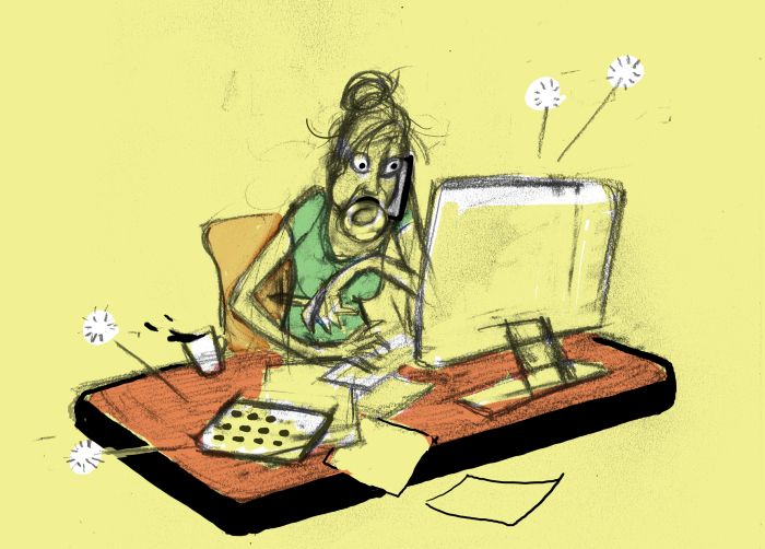 andre-slob_lion's-roar_buddhist_magazine_multitasking_illustration_sketch.jpg