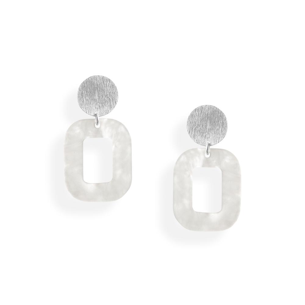 hvid baby rosa øreringe persuede jewellery smykker københavn
