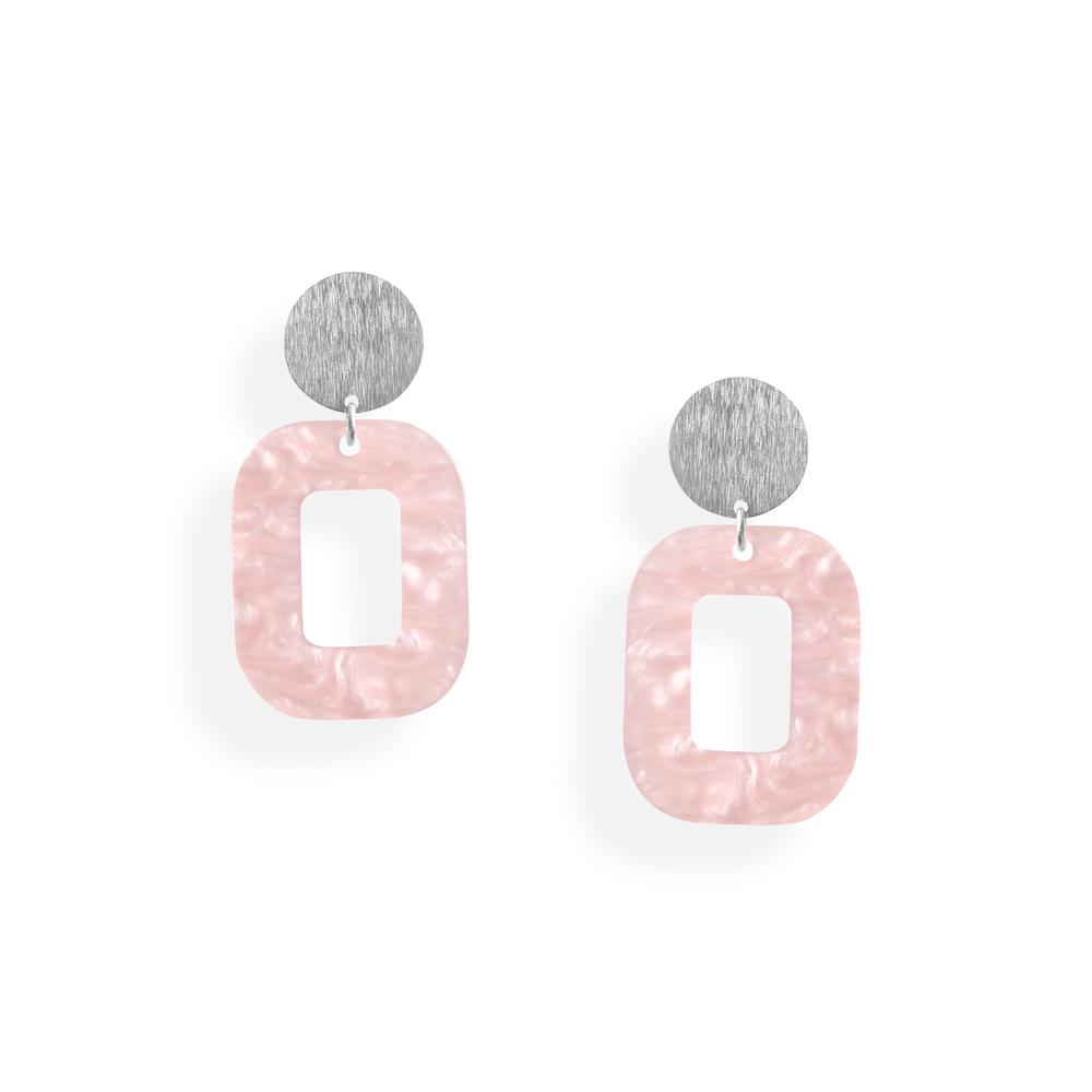 lyserød hvid baby rosa øreringe persuede jewellery smykker københavn