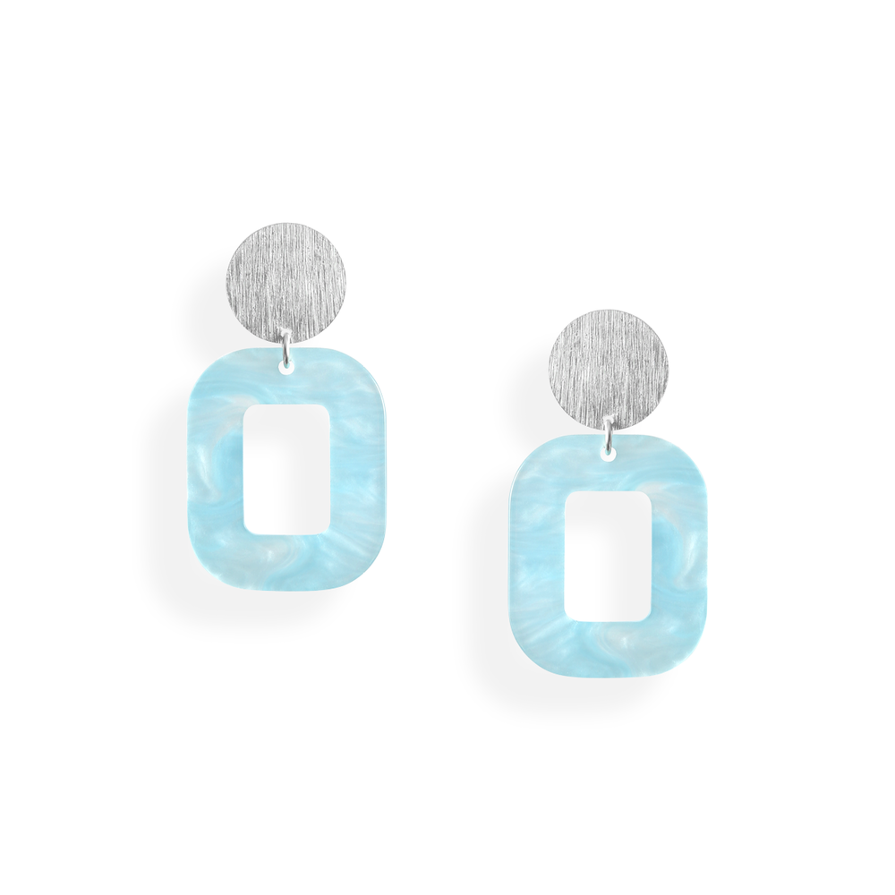 pastelblå hvid baby rosa øreringe persuede jewellery smykker københavn