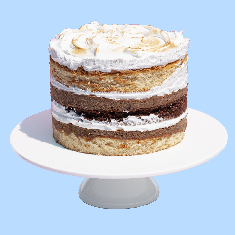The Smores Cake Vanilla Bombe